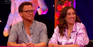 Stacey Solomon and Joe Swash on Celebrity Juice