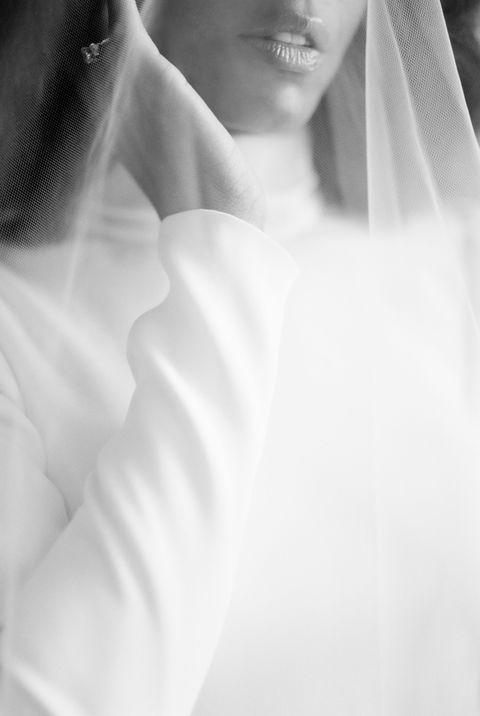 portrait de bijoux de voile de mariée