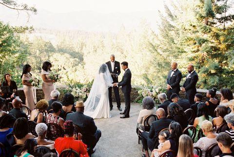 Cérémonie de mariage de Stacia et Mario Davis
