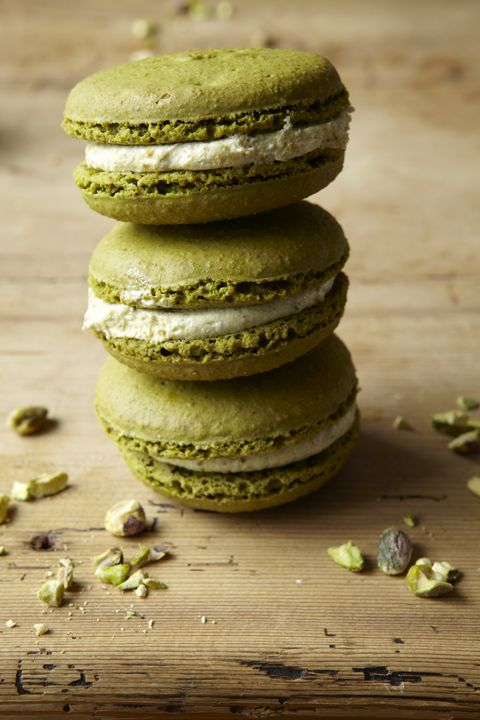 stack of macaroons on table