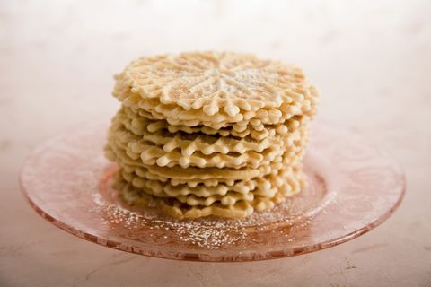 Stack of Pizzelle Cookies