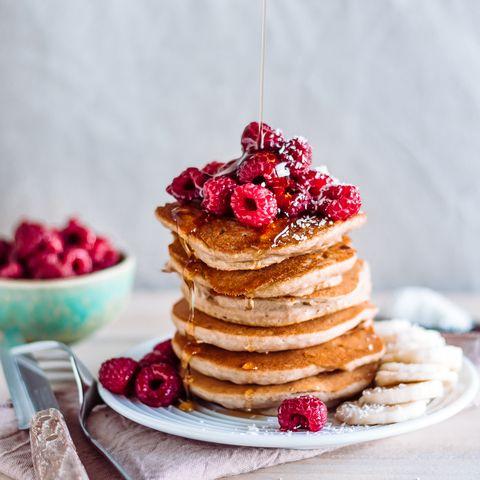pancakes con proteína en polvo