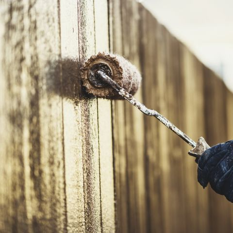 staining a brand new fence – diy home improvement