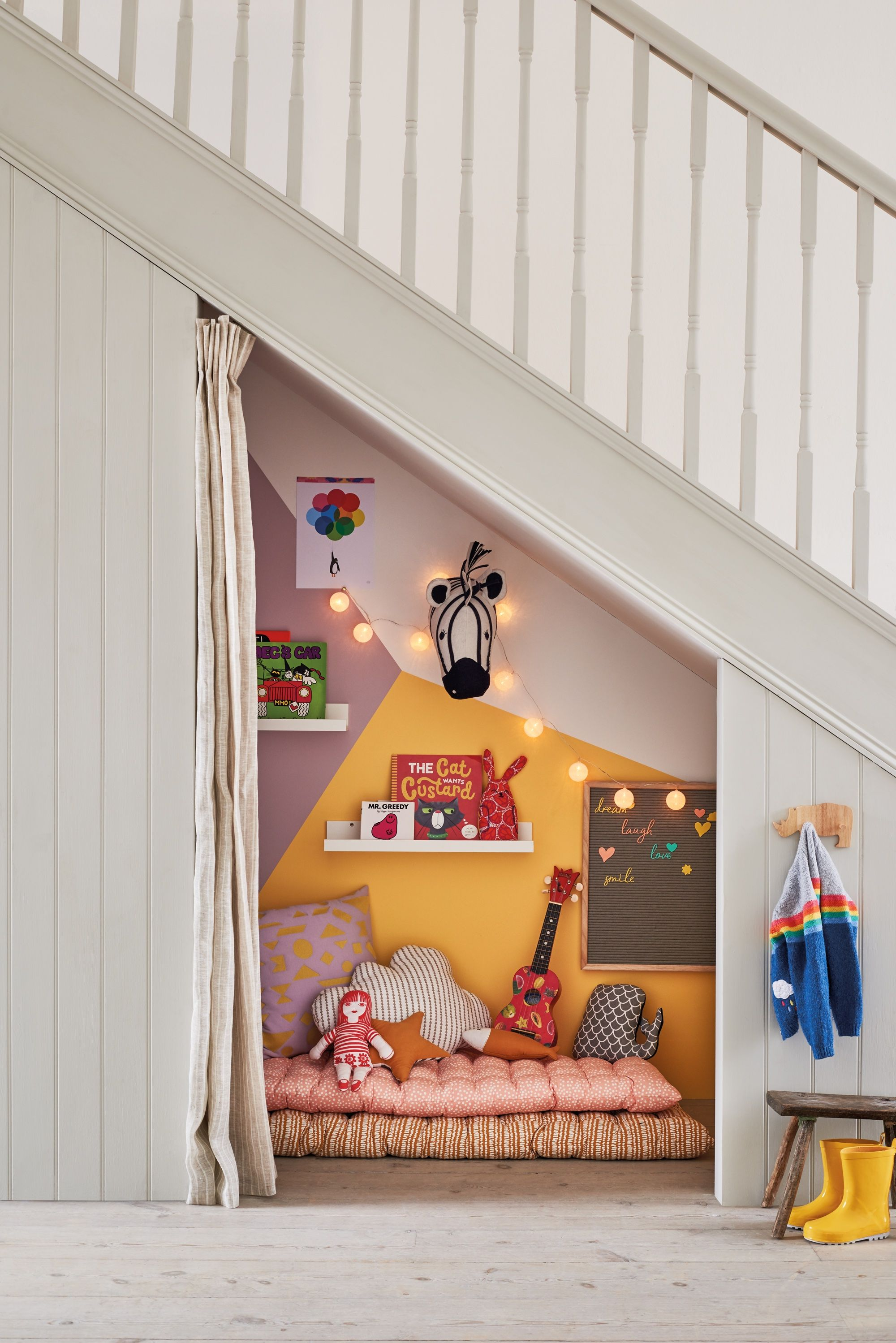 How To Transform An Under Stairs Cupboard Into A Kids Room