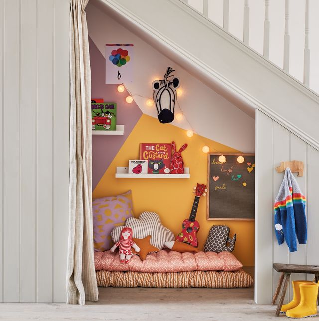 how to create an under the stairs haven for the kids
