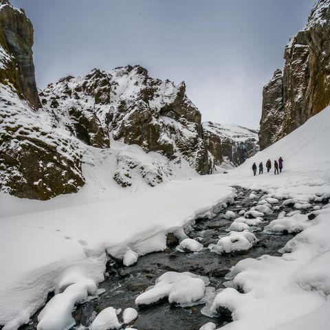 Iceland breaks -Stakkholtsgjá Canyon in Þórsmörk