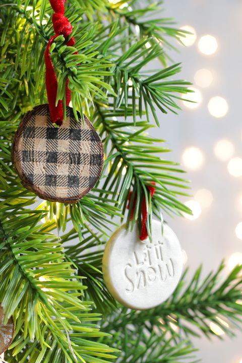 stamped diy ornaments