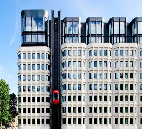 The facade of The Standard Hotel in London's Kings Cross