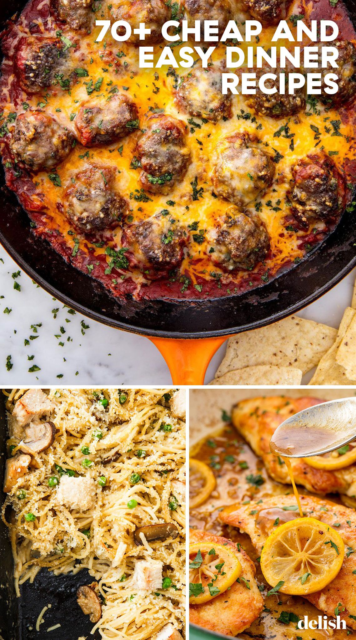 70+ Easy Cheap Dinner Recipes - Inexpensive Dinner Ideas