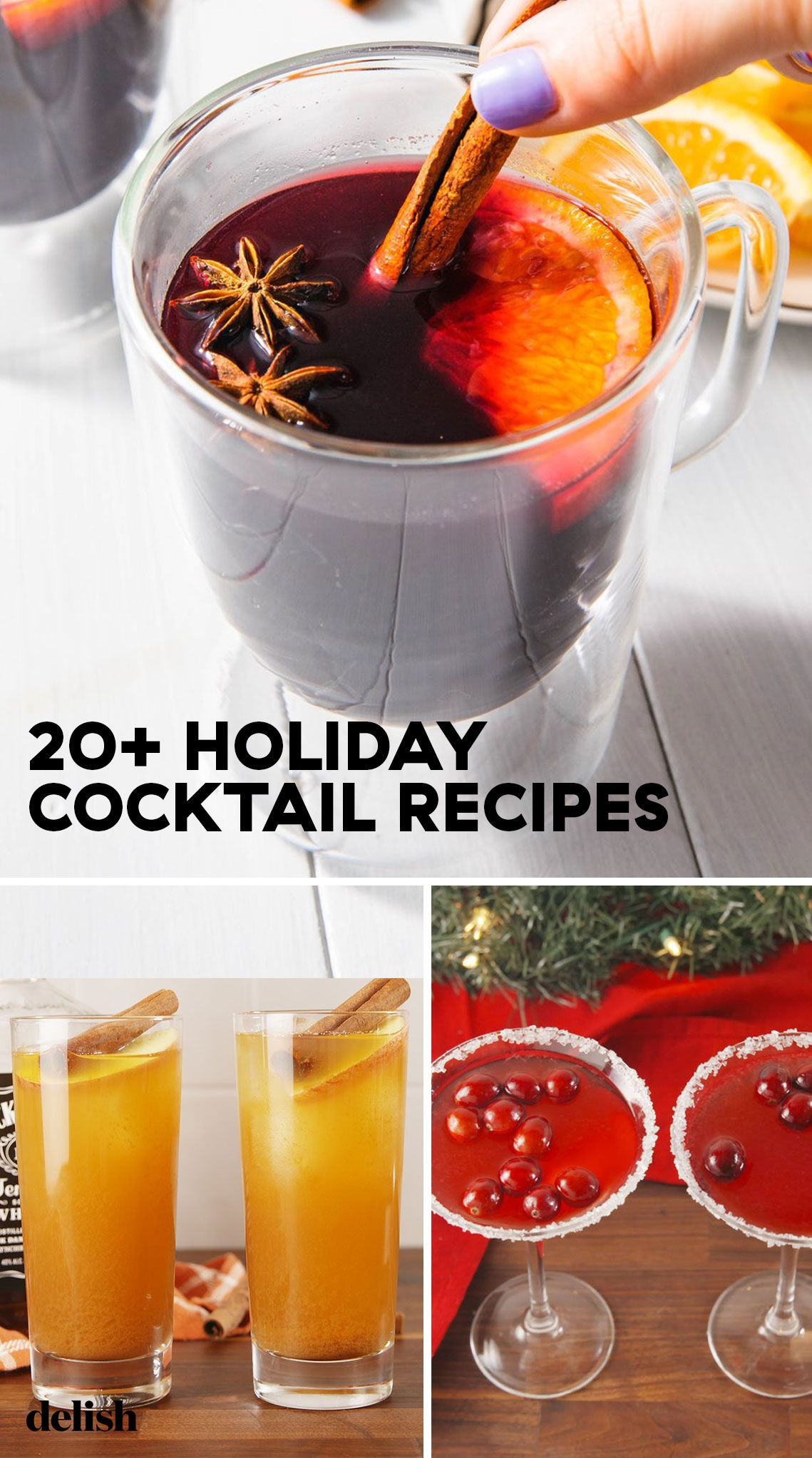 10+ Easy Christmas Cocktails - Best Recipes for Holiday Alcoholic
