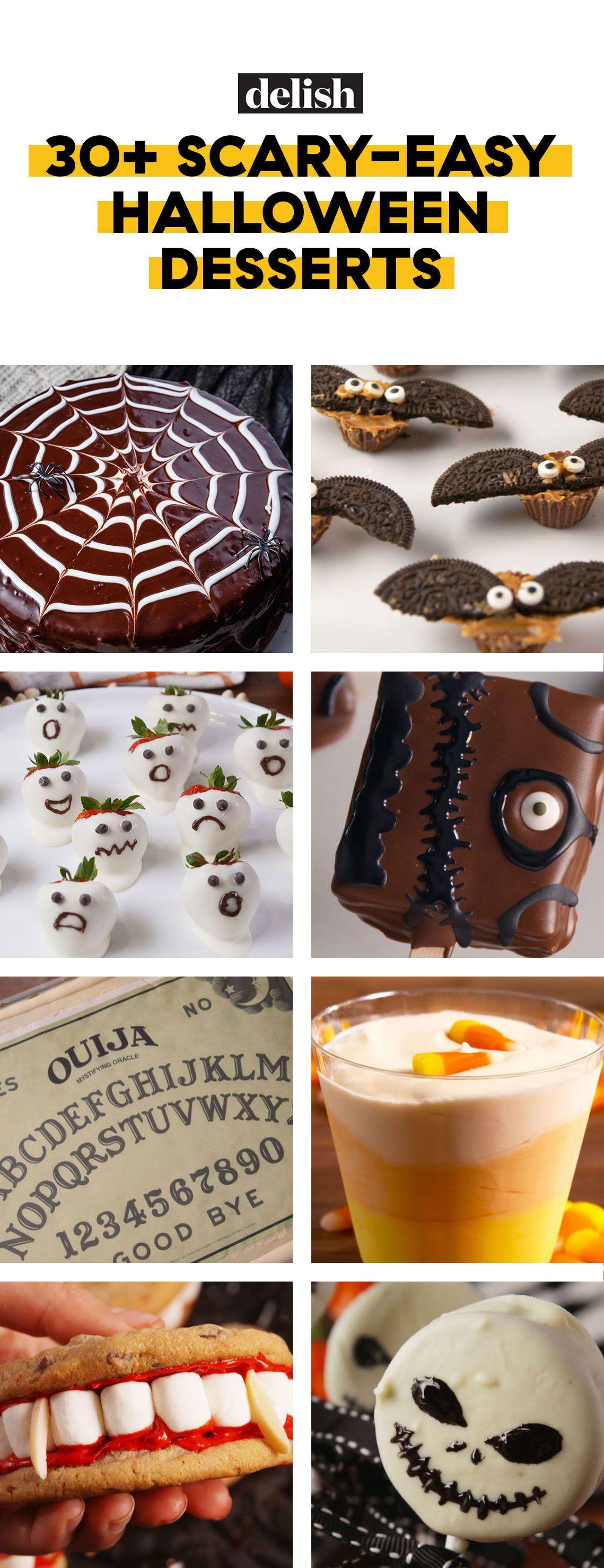 30 easy halloween desserts recipes for halloween party dessert ideas delishcom