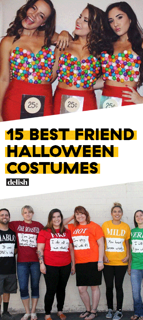 Halloween Friend Costumes.23 Best Friend Costumes For Halloween 2019 Matching Food