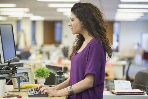 standing desk woman