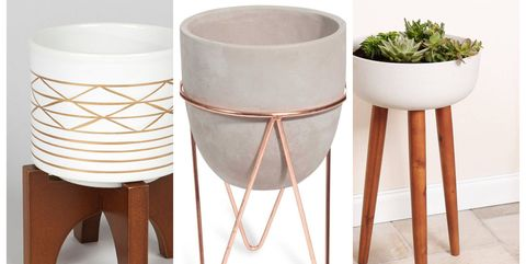 Best Indoor Plant Pot Stands Tall Standing Concrete Planters Copper