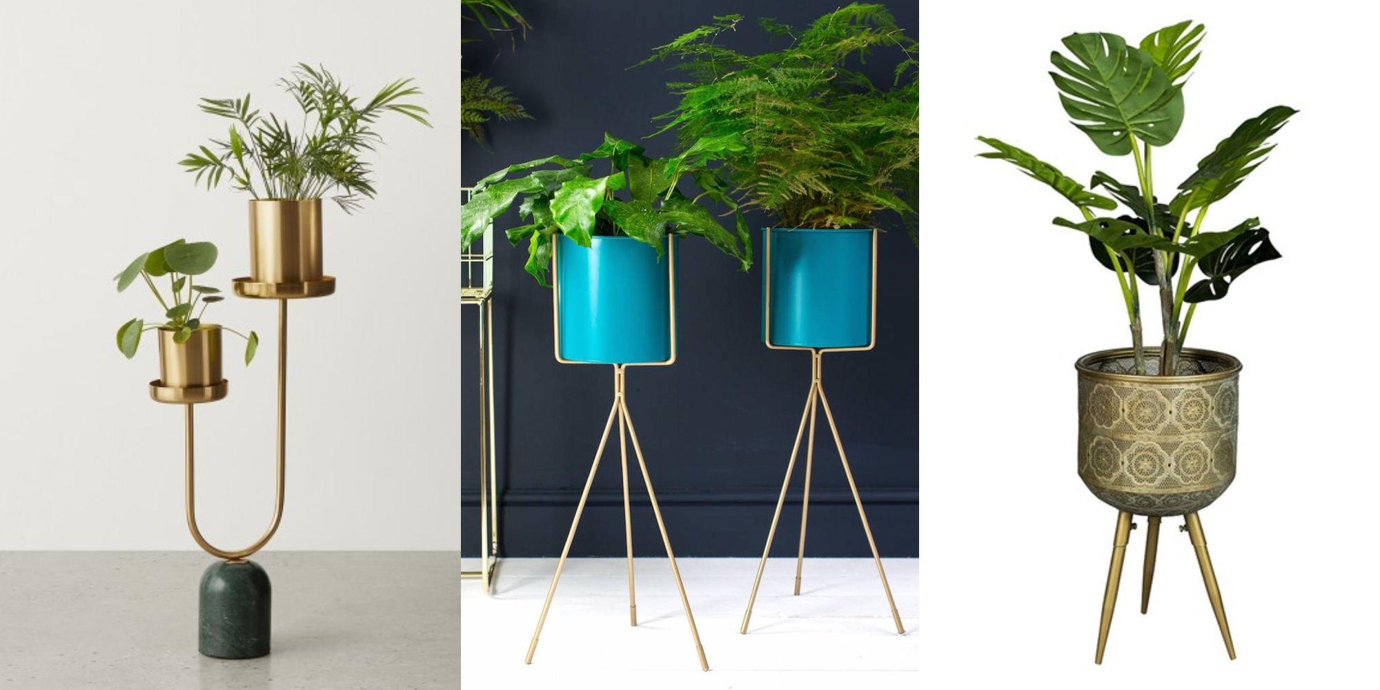 Square Flowerpot Set Of 2 Plant Pot Garden Patio Decoration Conservatory