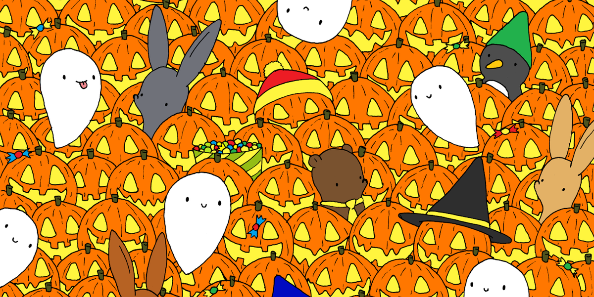 Can You Find the Star Among Pumpkins and Ghosts?