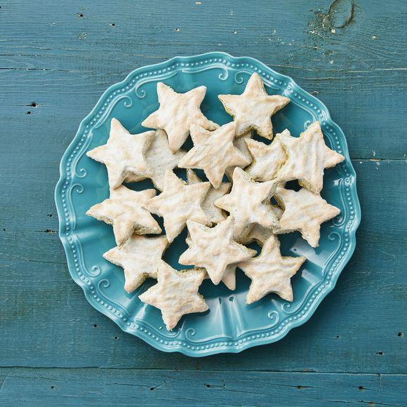 pistachio star cookies