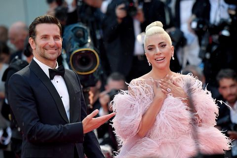 venice, italy   august 31  bradley cooper and lady gaga walk the red carpet ahead of the a star is born red screening during the 75th venice film festival at sala grande on august 31, 2018 in venice, italy  photo by jacopo raulefilmmagic