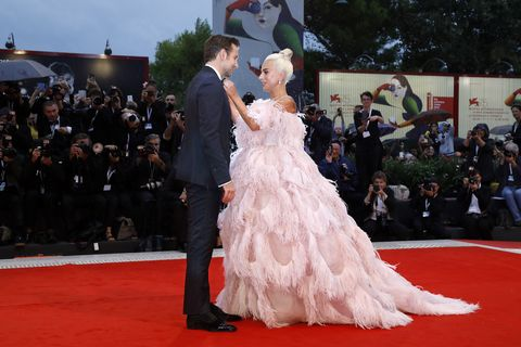 venice, italy   august 31 bradley cooper, lady gaga attend the a star is born premiere during the 75th venice film festival at the palazzo del cinema on august 31, 2018 in venice, italy  photo by john rasimus photo credit should read john rasimus  barcroft media via getty images