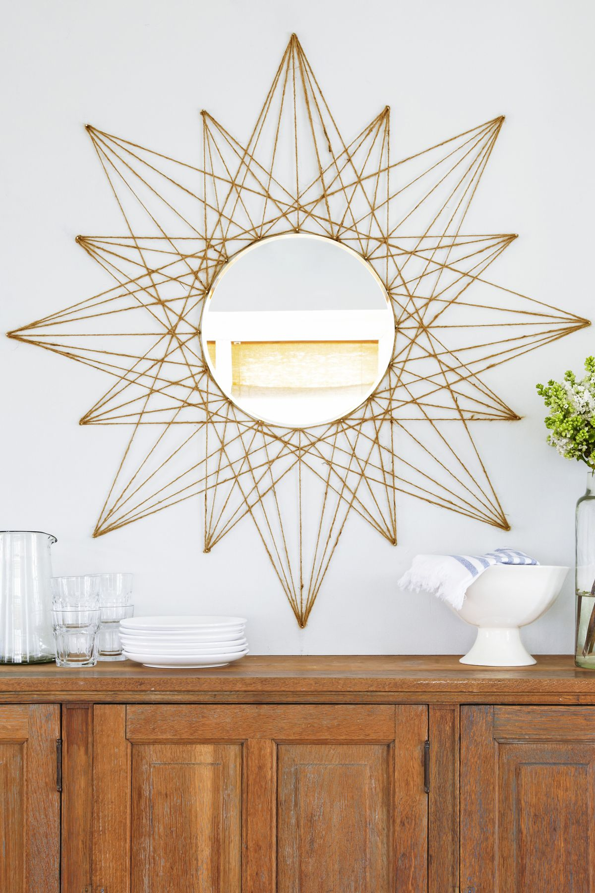 Star Mirror   DIY Home Decor