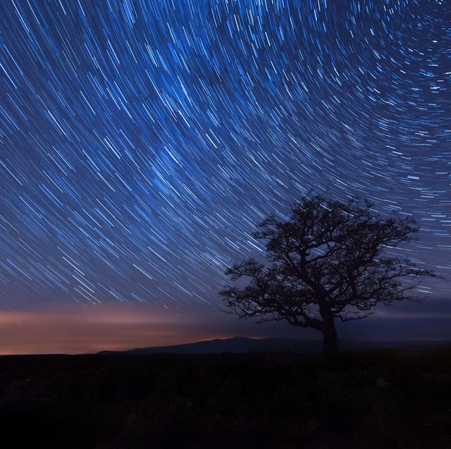 star trails in the yorkshire national park