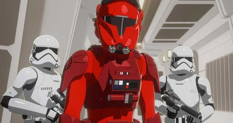 Star Wars 9 Stormtrooper rojo