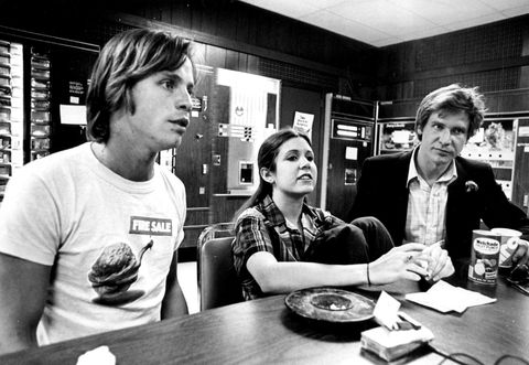 harrison ford with mark hamill and carrie fisher