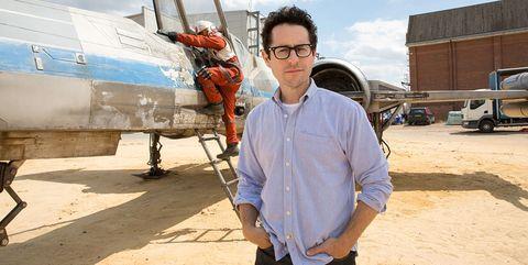 JJ Abrams en el set de rodaje de El Despertar de la Fuerza