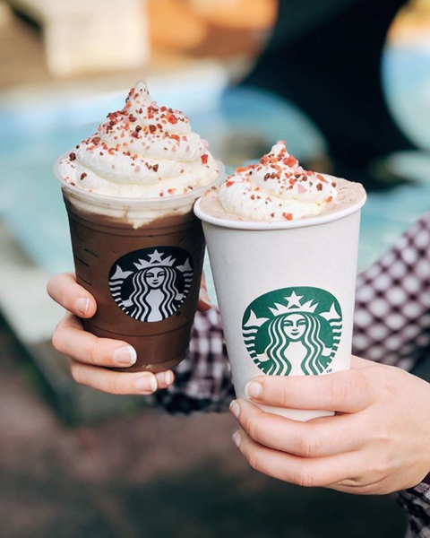 Starbucks' Valentine's Day Happy Hour Offers Two for One Drinks, Obviously