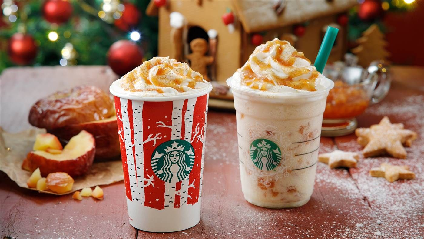 Starbucks Japan Released a Hot Apple Pie Latte and It Looks Amazing