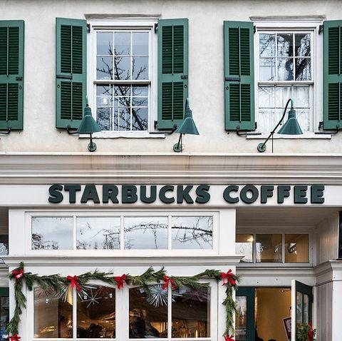 Starbucks coffee shop.