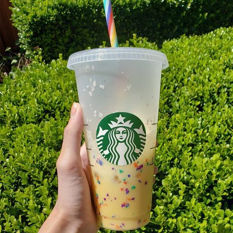 starbucks color changing confetti cold cup