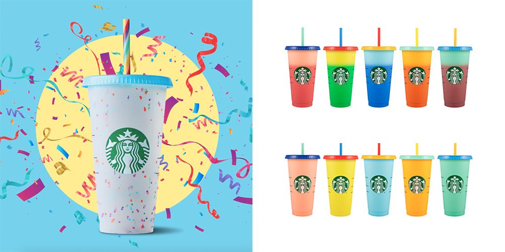 Starbucks' Colour-Changing Cups Come With A Rainbow Straw, And They're SO Cute