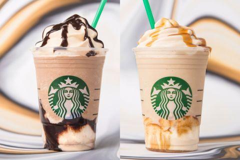 New Starbucks Frappuccino Flavors Triple Mocha Frappuccino Ultra Caramel Frappuccino
