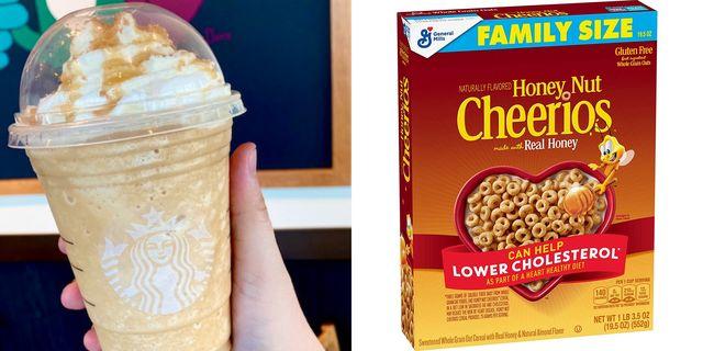 honey nut cheerios frappuccino