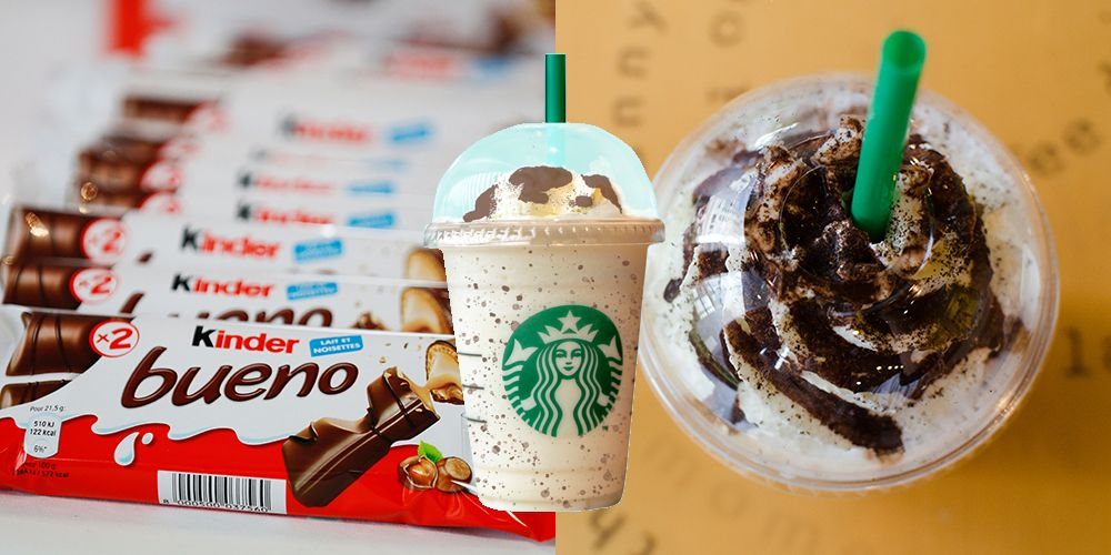 Starbucks' Kinder Bueno Frappuccino Has Crushed Cookies Inside And On Top!