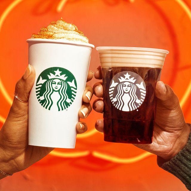 starbucks pumpkin spice latte and pumpkin cream cold brew