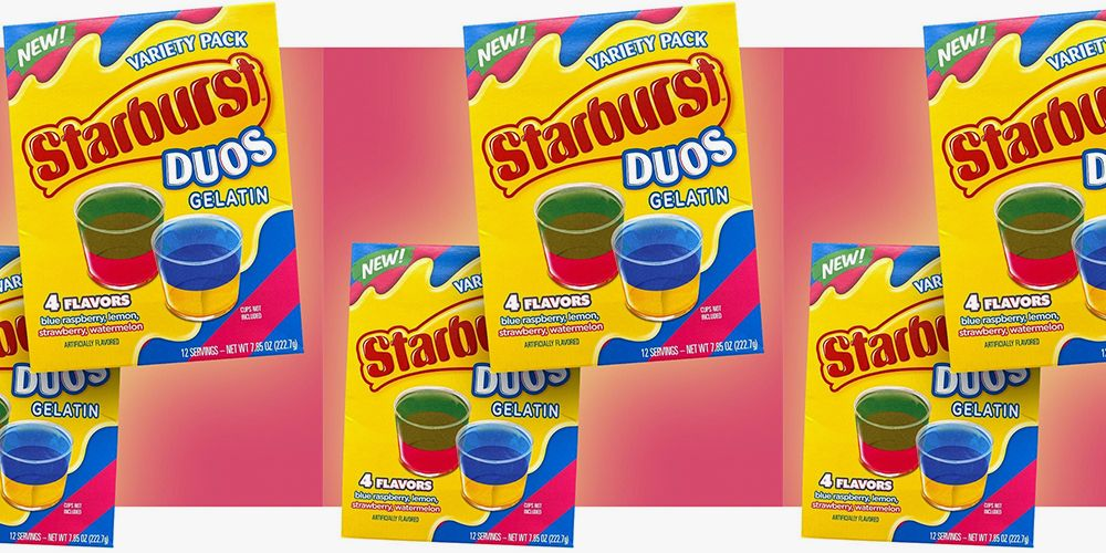 Starburst Duos Gelatin Combines Flavors for the Best Jell-O Shots of Your Life