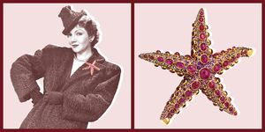 Claudette Colbert, Boivin, Starfish, Brooch, jewelry