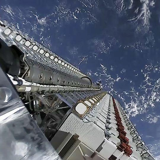 starlink satellites ready to be deployed