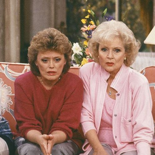 the golden girls pictured l r  bea arthur as dorothy petrillo zbornak, rue mcclanahan as blanche devereaux, betty white as rose nylund, estelle getty as sophia petrillo    photo by nbcnbcu photo bank