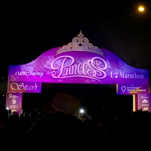 Princess Half Marathon starting line