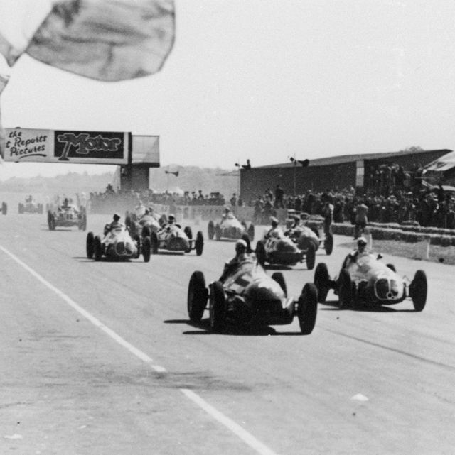 racing cars in race