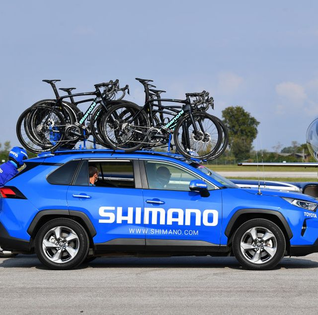 a shimano neutral support car at the 103rd giro d'italia 2020   stage fifteen