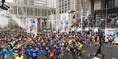 Start of the 2015 Tokyo Marathon