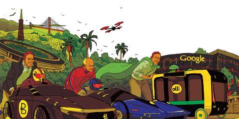 Motor vehicle, Mode of transport, Transport, Cartoon, Vehicle, Automotive design, Car, Fictional character, Games, Art,