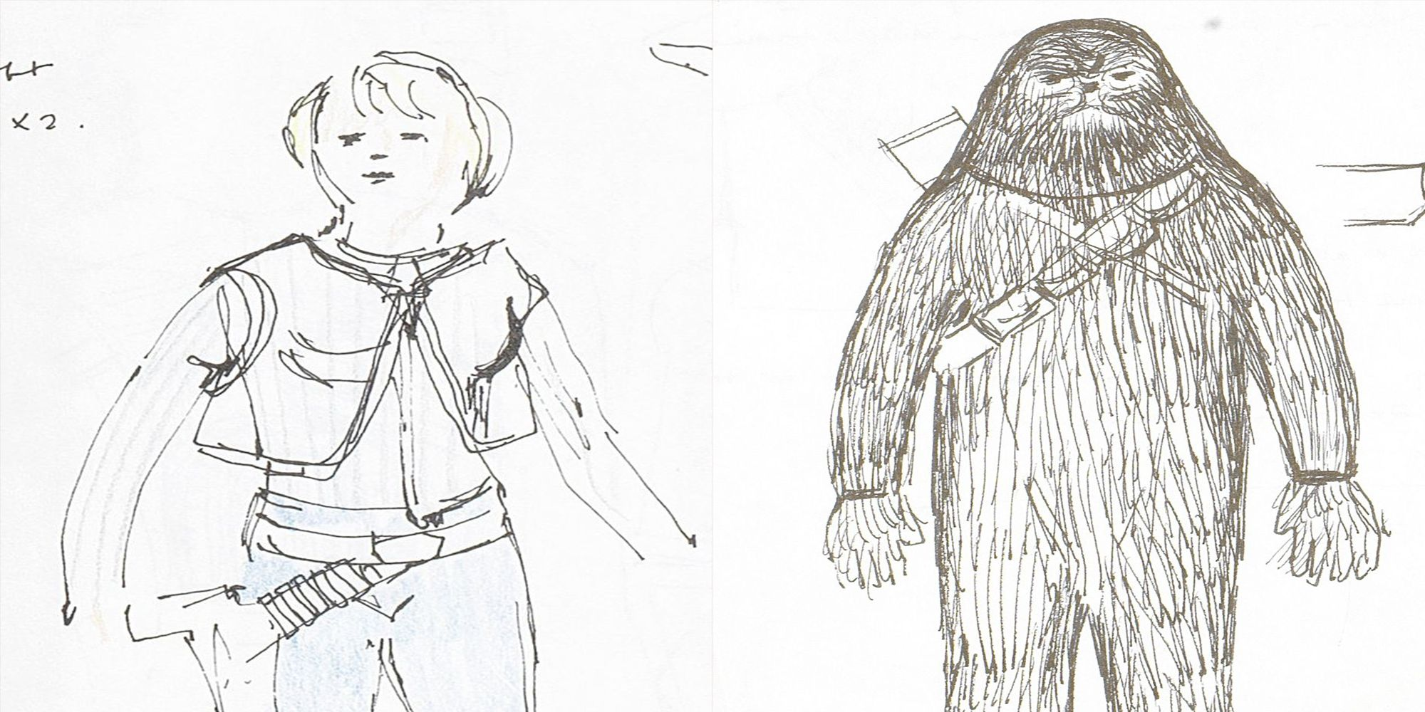 These Original Hand-Drawn 'Star Wars' Costume Sketches Could Be Worth Over $300,000