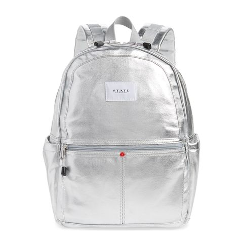 state bags silver backpack