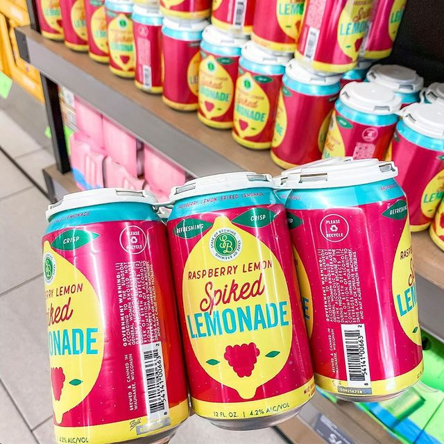 state of brewing's raspberry lemon spiked lemonade