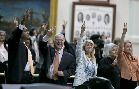 Texas - Sen. Wendy Davis filibuster